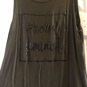 Tops - Proud feminist tank top